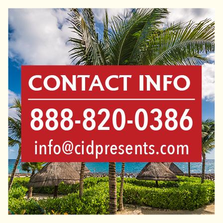 Contact Info 888-820-0386 info@cidpresents.com